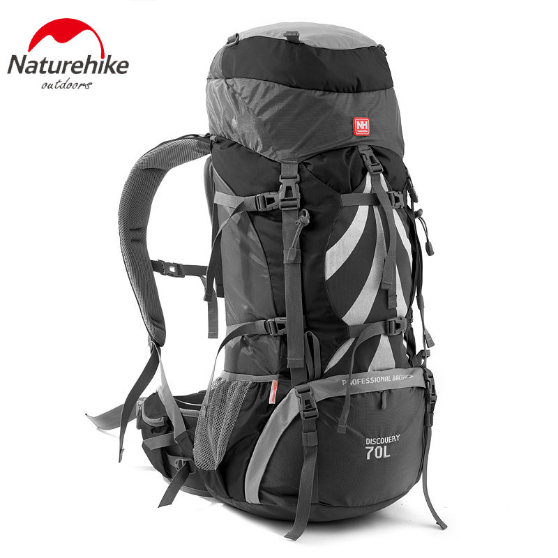 Naturehike outdoor big capacity 70L hiking backpack professional mountain bags internal frame rucksack for climbing camping 70l internal metal frame molle backpack rucksack water resistant bags 600d camouflage men long distance travel backpack t0071
