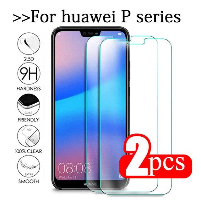 2個強化ガラスhuawei社P20 liteのガラスhuawe P40ライトe P30 1080p 40 20プロP10プラスp9ミニP8スクリーンプロテクター安全フィルム