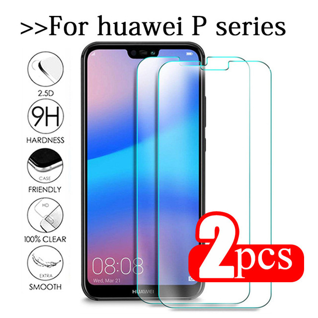 2pcs Tempered Glass For Huawei P20 Lite Glass Huawe P40 Light E P30 P 40 20 Pro P10 Plus P9 Mini P8 Screen Protector Safety Film
