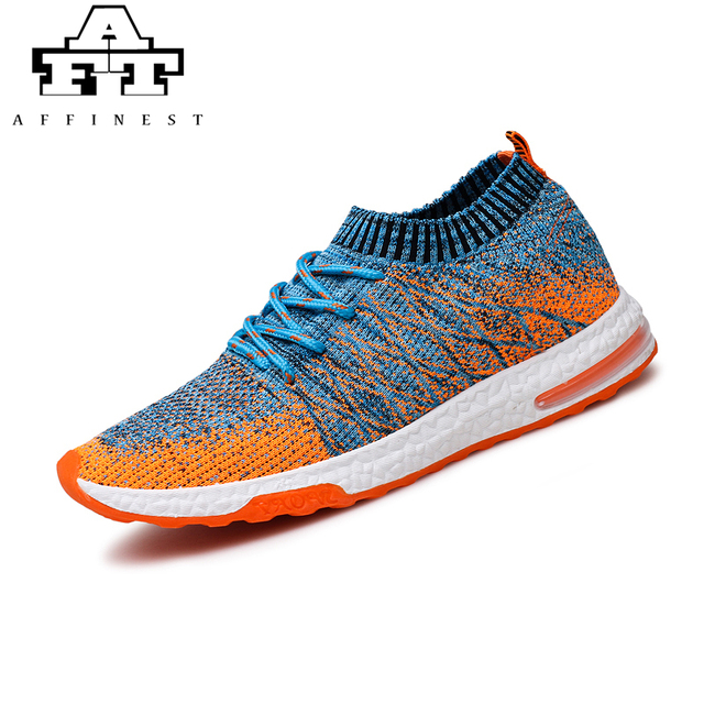 a1e5eb1786eb1 AFFINEST Male Breathable Running Shoes for Men Air Mesh Flyknit Shoes  Outdoor Sports Sneakers Lightweight Footwear