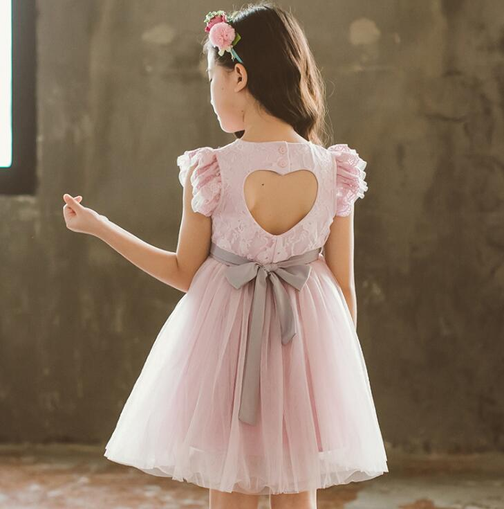Girls Princess Dresses 2018  Summer Girl Party Dress  Korea Little Girl Dress Fashion Sweet  Kids Clothing Children Clothes
