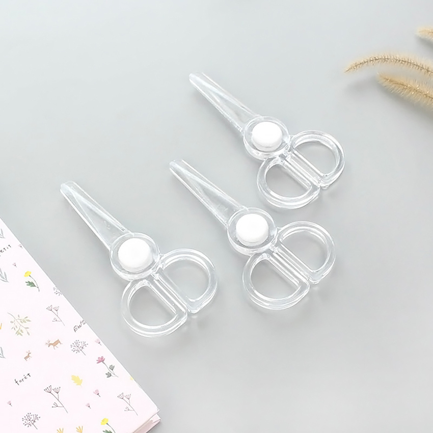 Transparent Acrylic Art Scissors Paper Cutter DIY Craft Supplies Portable Students Stationery Office Durable Simple Scissors