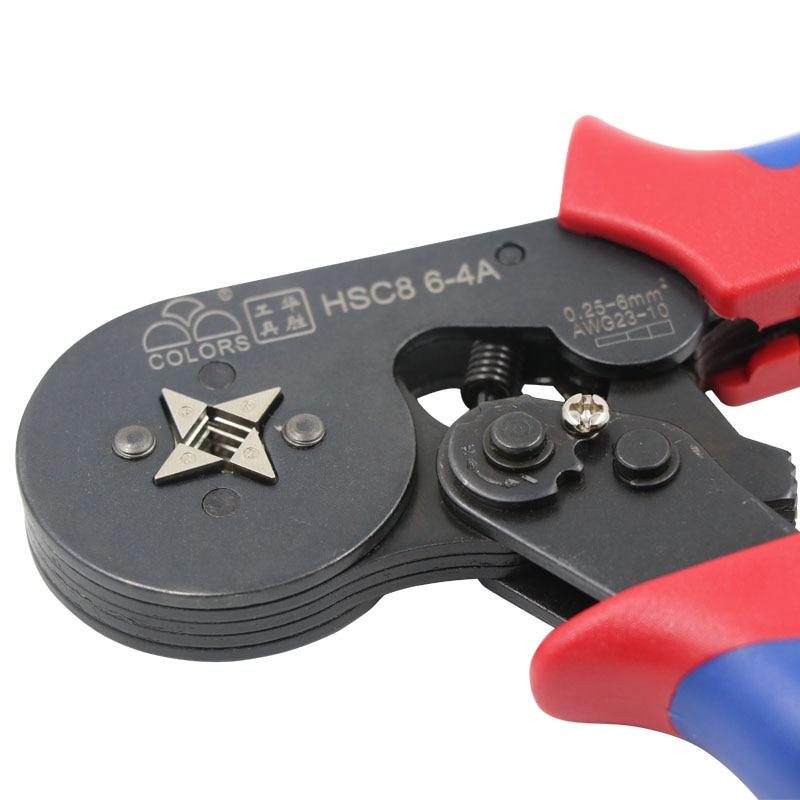 Купить с кэшбэком COLOR HSC8 10SA 6-4 0.25-6mm crimping tool pliers crimper kablo kesici pliers cable tools crimp plier wire cutter crimpador mini