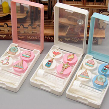 Contact Lens Case Eye Contacts Cute Kit 2Pairs Travel Lenses