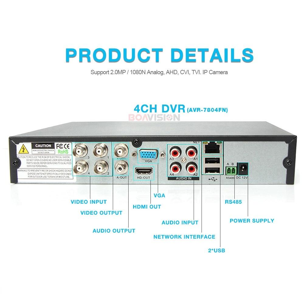5 en 1 AHD CVI TVI CVBS NVR 4Ch 8Ch 16Ch 1080N sécurité CCTV DVR NVR XVR enregistreur vidéo hybride 1080 P Onvif Max 4 to P2P vue - 3