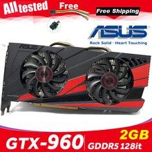Asus GTX 960 OC 2GB GT960 GTX960 2G D5 DDR5 128 Bit nVIDIA PC Desktop Graphics Cards computer Graphics Cards PCI Express 3.0