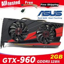 Asus GTX 960 OC 2GB GT960 GTX960 2G D5 DDR5 128 Bit nVIDIA bilgisayar masaüstü Grafik Kartları bilgisayar Grafik kartları PCI Express 3.0