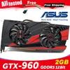 Asus GTX 960 OC 2GB GT960 GTX960 2G D5 DDR5 128 קצת nVIDIA מחשב שולחני כרטיסי מסך מחשב כרטיסים גרפיים PCI Express 3.0