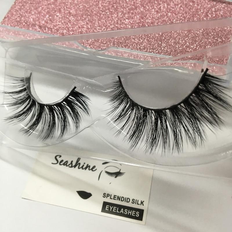 81d8422ffe1 Free Shipping 10pcs/lot 100% Real 3D Siberian Mink Full Strip False Eyelash  Long volume Eyelashes Mink Lashes Extension
