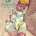 Bebê recém-nascido Menina Meninos Roupas de Outono Impressão de Algodão Do Bebê Roupas de Menina Crianças One Pieces Macacões Trajes Bebê Bebes Pijamas