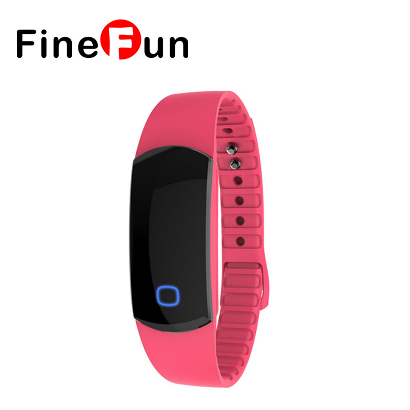 FineFun SH08 Bluetooth Smart Bracelet Movement Pedometer Sleep Monitoring Calorie Expenditure IP67 Waterproof for IOS Android