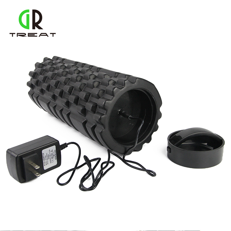 33*14cm Foam Roller Electric Massage Foam Roller Rechargeable Vibrating Pilates Crossfit Roller Massage new yoga pilates exercise high density eva foam massage roller fitness home gym massage