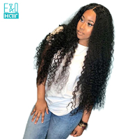 180% Density Water Wave Full Lace Human Hair Wigs Pre Plucked Brazilian Remy Hair Lace Wig With Baby Hair Natural Black Color