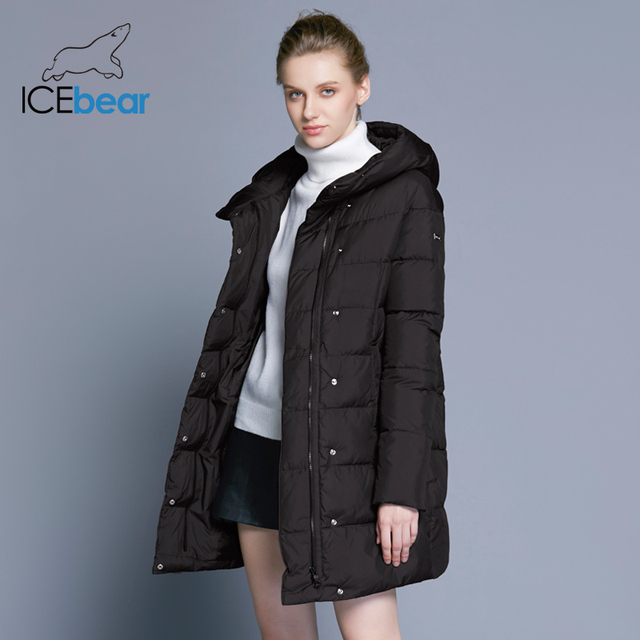 ICEbear 2018 Hot Sale Winter Womens Coats Down Thickening Jacket And Coat For Women High Quality Parka Five Colors 16G6128D 2