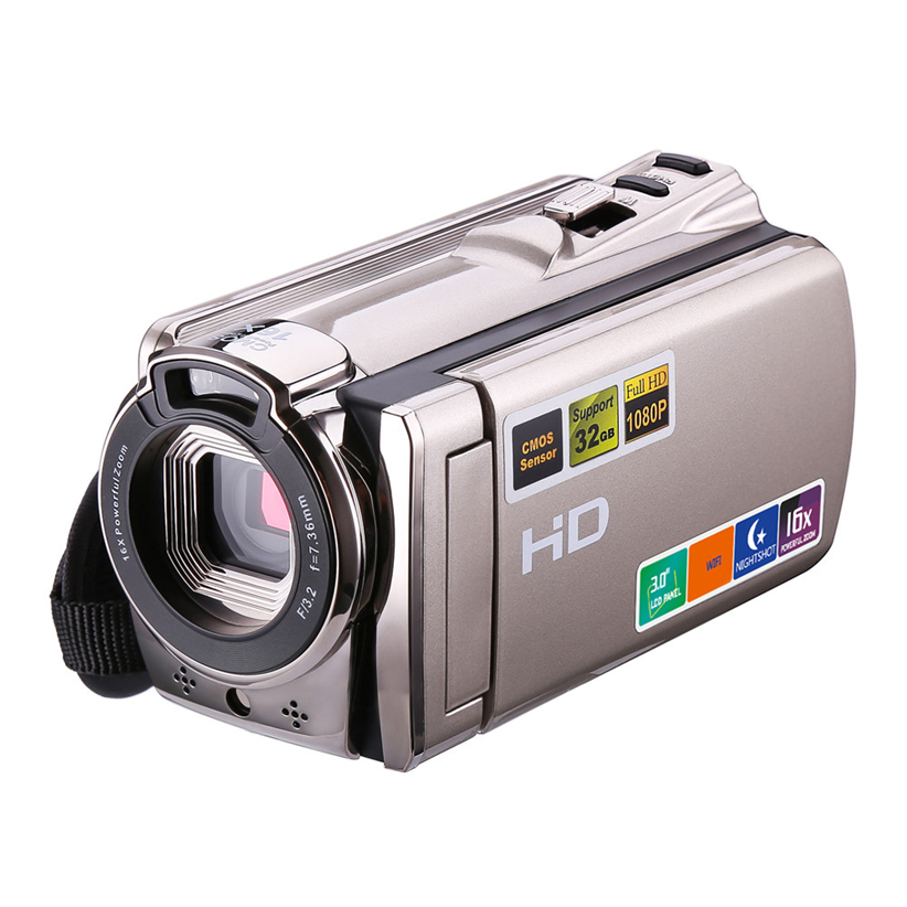 Camcorder 1080P FHD Night Vision WIFI Video Camera HDMI And Touchscreen Futural Digital JUN14