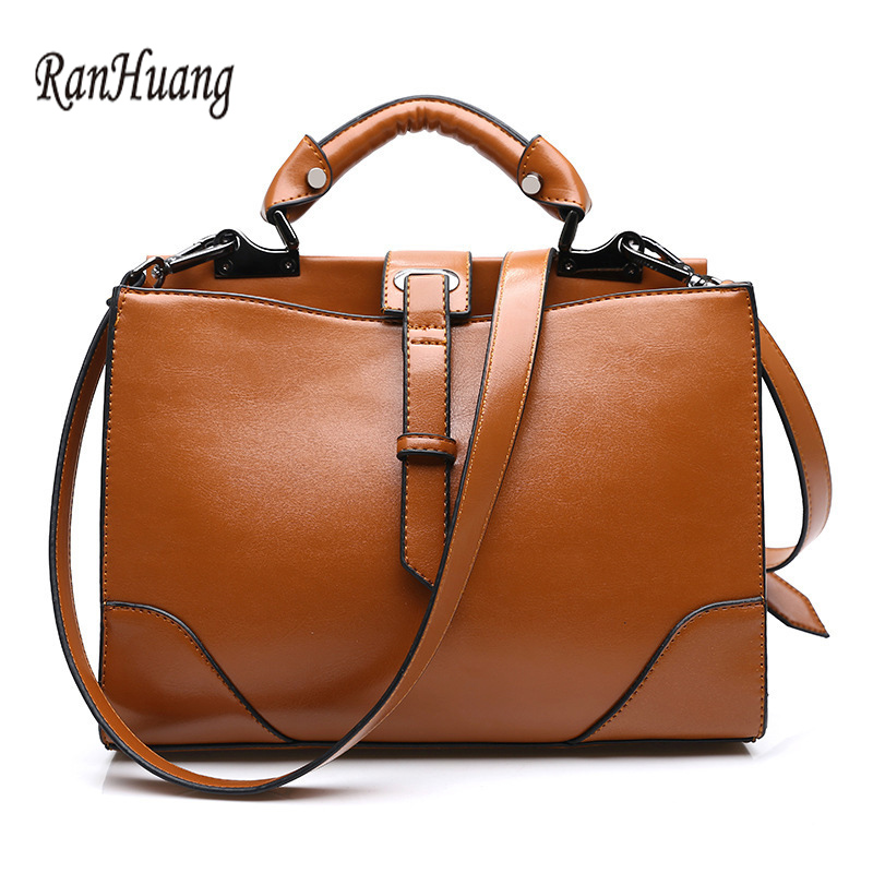 ФОТО RanHuang Women Luxury Handbags Famous Brand Designer Bag PU Leather Shoulder Bags Female Fashion Messenger Bags bolsa feminina