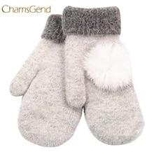 Chamsgend Newly Design Women's Cute Winter Warm Wool Gloves Mittens Aug19 Chamsgend
