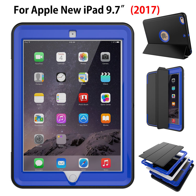 Shockproof Kids Safe Case For Apple New iPad 9.7 2017 Case Smart Cover Funda Tablet Sleep Protector Shell Model A1822 A1823