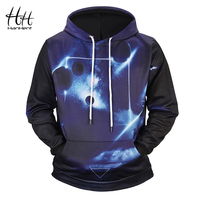 HanHent Men's New Starry Sky Printed Hoodie 3D Streetwear Hoodies Casual 2018 Autumn European Size Fashion Sweatshirts Male