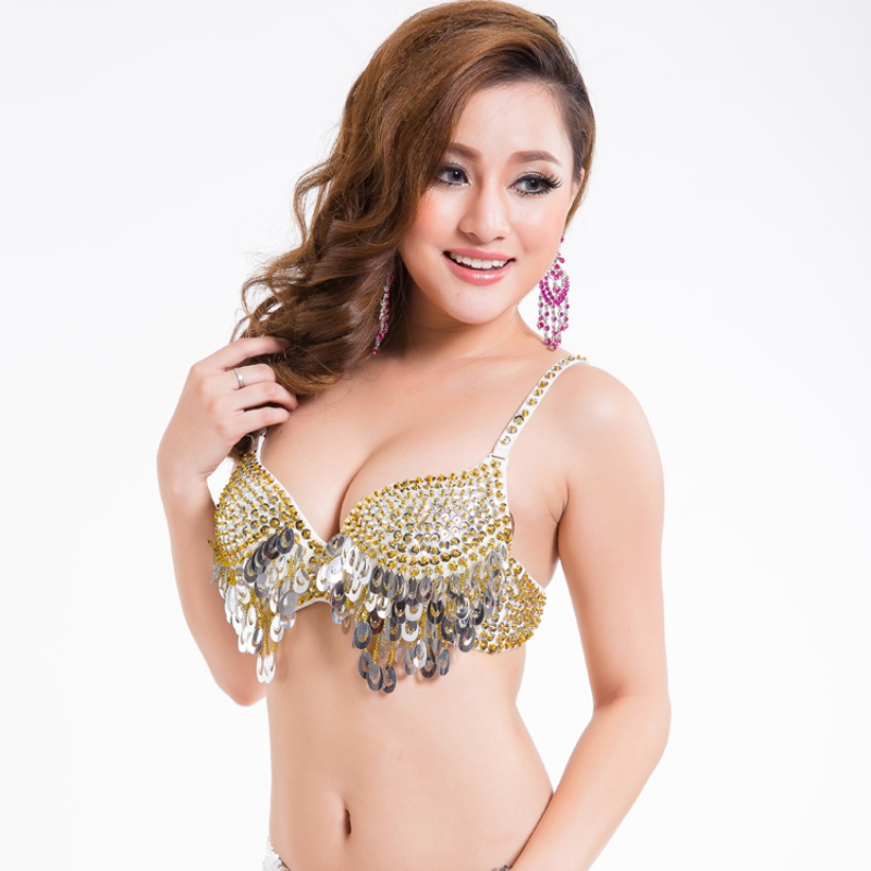 Aliexpress.com : Buy Twinkling Sequined Belly Dance Bra Top Beaded ...