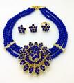 2017 Fashion Dubai Gold Plated Jewelry Sets Costume Big Jewelry Set Design Nigerian Wedding African Beads Jewelry Sets