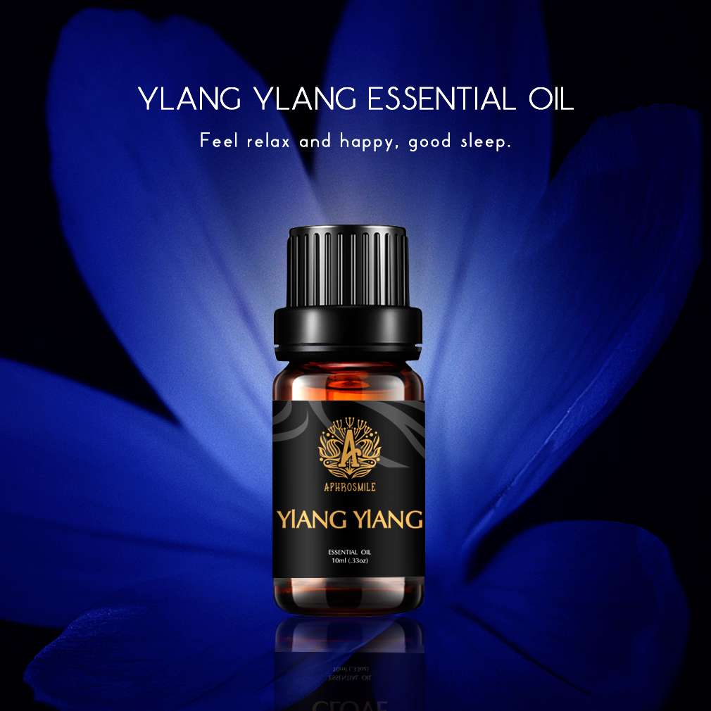 Plant Perfum Oil Ylang Essential Oil Aphrodisiac Effect Aromatherapy Oil Natural Moisturizing Skin Care Oil Relieve Anxiety