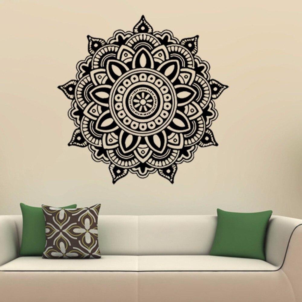 Mandala Flower Wall Stickers Bedroom Living Room Decal Art Mural Decor Home Decoration Stiker