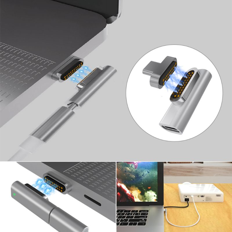 Magnetic Type C Quick Charge Adapter Converter 20 Pin For MacBook Pro Tablet Samsung Xiaomi Android Smart Phone Adapter Charger