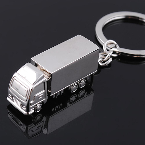 Cute Metal Truck Lorry Car Key Ring Keyfob Keychain Creative Gift Lovely Keyring 6L3V