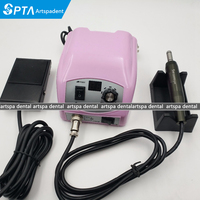 50,000 RPM Non Carbon Brushless Dental Micromotor nail Pedicure Polishing Unit with E type lab handpiece