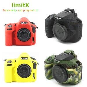 Soft Silicone DSLR Camera Case bag Cover for Nikon Z7 Z6 D780 D750 D850 D3300 D3400 D3500 D5300 D5500 D5600 D7100 D7200 D7500(China)