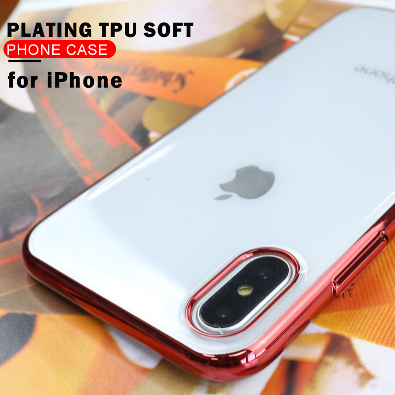 Luxury Ultra Thin TPU Case For IPhone X 6 6s 7 8 P Case Transparent Soft Silicone High Transparency Case For IPhone X Cover