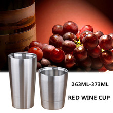 hot sale Bpa-free double wall Stainless steel sports water bottle party beer red wine tea cup portable travel coffee milk mug