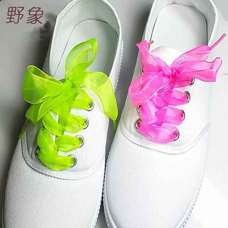 yarn decoration Lace women Lace dance shoelace lady gift shoelaces with 90cm shoe lace Color Optional shoesLaces