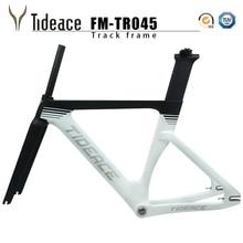 Новинка, карбоновая рама для дорожки, карбоновая рама для велосипеда с вилкой, подседельный штырь, карбоновые рамы, фиксированная передача, велосипедная Рама
