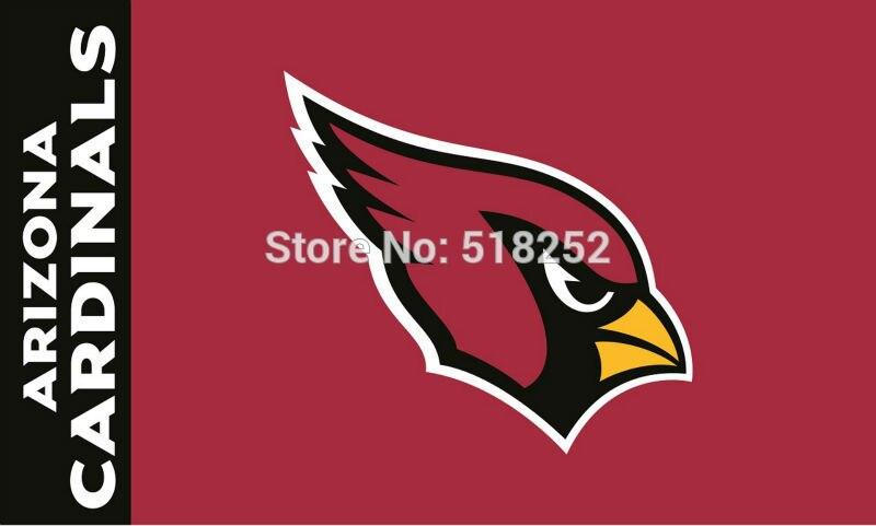 Arizona Cardinals logo Flag 3x5 FT 150X90CM Banner 100D Polyester flag brass grommets 006, free shipping