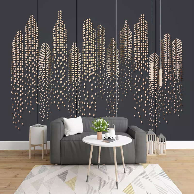 Custom Any Size Mural Wallpaper 3D Stereo City Building Photo Wall Paper Living Room Restaurant Cafe Background Wall Painting 3D