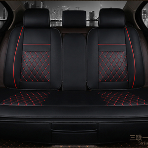 Image 2 - Waterproof Back Rear Car Seat Covers Universal PU Leather Cushion Protector Pad Mat Fit Most Car Accessories Interior