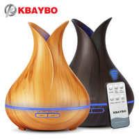 400 ml control remoto ultrasonido humidificador de grano de madera aroma aromaterapia difusor de aceite esencial para el hogar dormitorio bebé