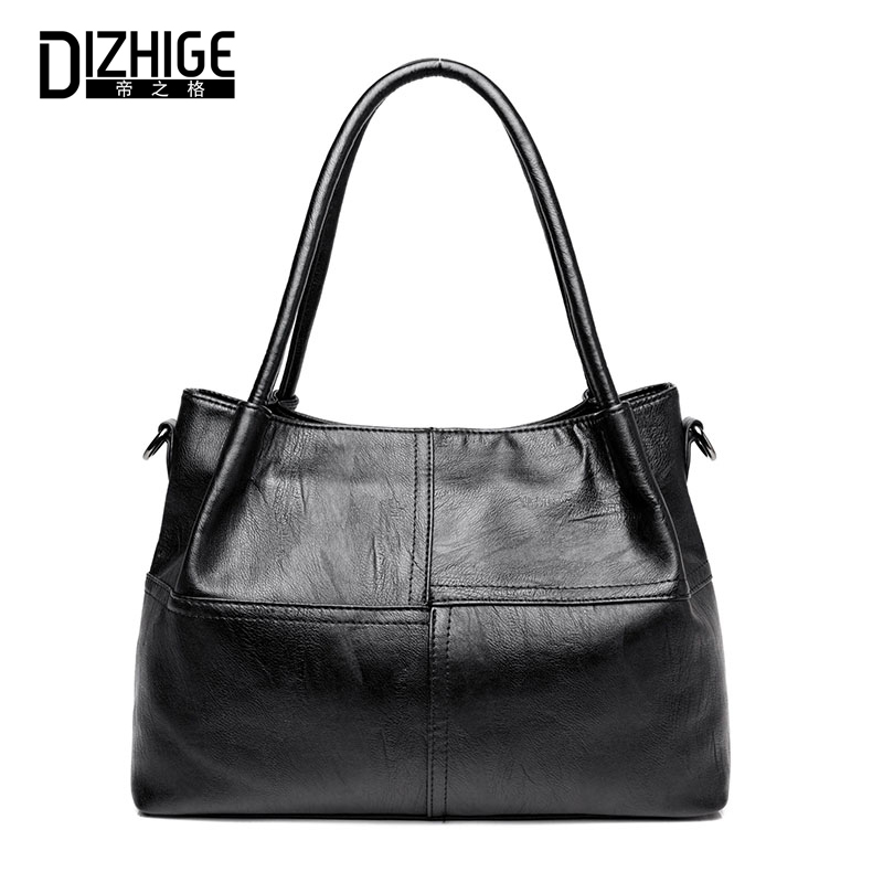 Women Shoulder Bag High Quality PU Leather Bags Ladies Handbag Solid Big Shopping Handbag Female Large Capacity Casual Tote Bag casual women shoulder bags pu leather female big tote bags for ladies handbag large capacity sac a main femme de marque ulrica