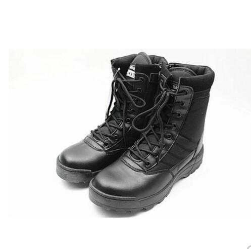 Home Sommer Training Stiefel High-top Leinwand Sicherheit Schuhe Mesh Military Männer Spezielle Kräfte Atmungs Schwarz Super Licht Kampf Stiefel