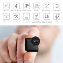 1080p Мини HD камера Веб-камера Встроенный аккумулятор wifi Поддержка TF карта ночного видения в режиме реального времени просмотр приложение для ios Android телефон