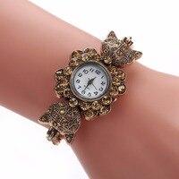 High Quality Ladies Vintage Crystal Alloy Strap Women Watches 2018 Luxury Brand Quartz Watches Woman Dress