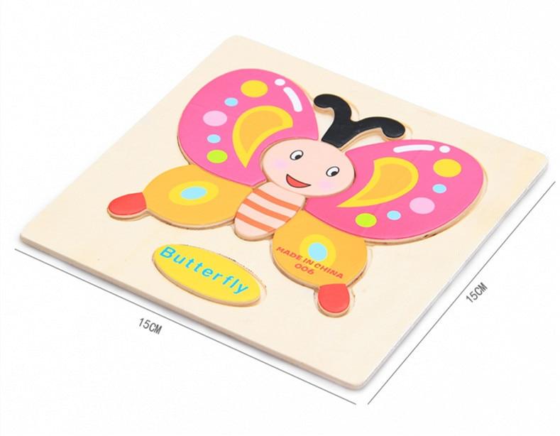Mainan Bayi Kanak-kanak Pendidikan Haiwan / Buah-buahan / Kenderaan - Teka-teki - Foto 5