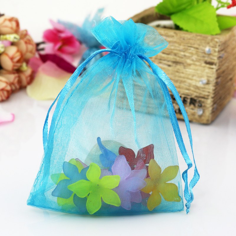 100Pcs Wholesale Organza Bag Jewelry Packing Pouch Wedding Favor Gift Bags Decor