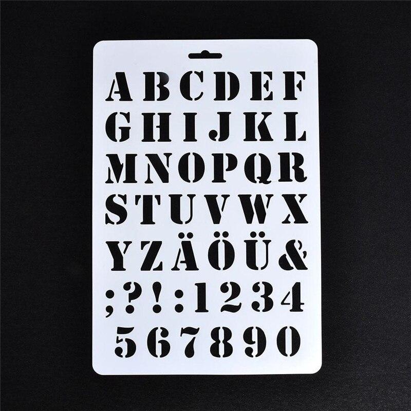 Letter Alphabet Number Layering Plastic Stencils Painting DIY Scrapbooking Paper Cards Craft Cutting Dies Home Photo Album Decor