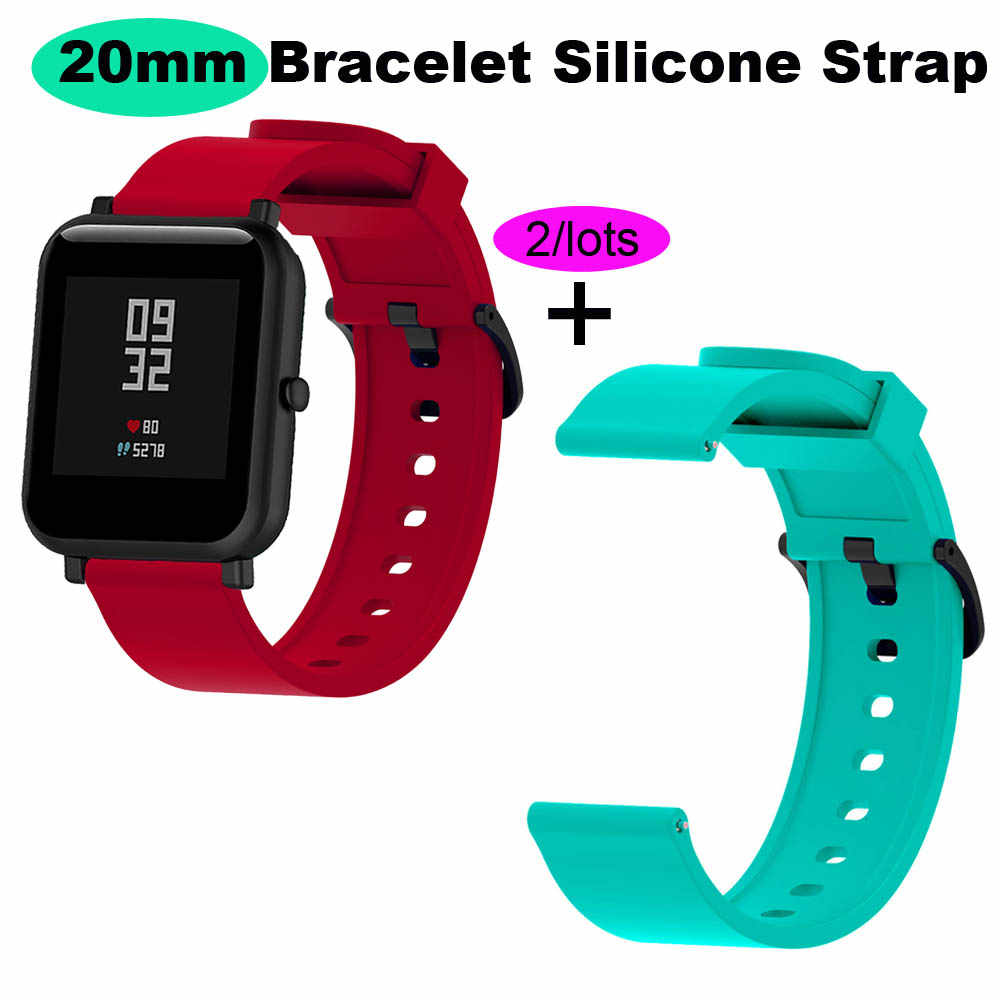For Xiaomi Amazfit GTS Bracelet Amazfit Bip Watchband Amazfit GTR 42mm Silicone Watch Strap