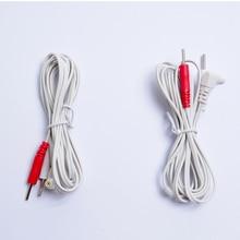 10 sztuk wymiana Jack DC Head 2.35mm elektrody TENS Unit przewody przyłączeniowe kable połączeniowe