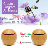 USB Aroma Essential Oil Diffuser Ultrasonic Cool Mist Humidifier Air Purifier 7 Color Change LED Night light for Office Home 4