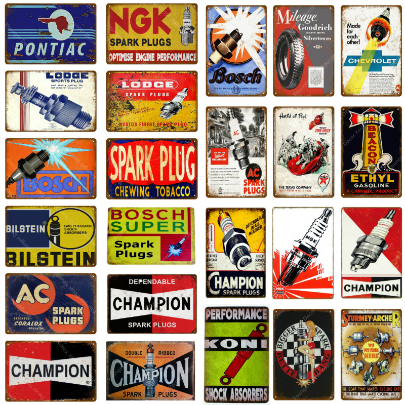 Vintage Metal Painting Tin Sign Home Bar Wall Decor Poster Garage Plaque Picture